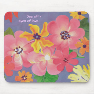 Wild roses & golden blossoms mouse pad