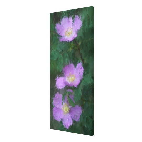 Wild Roses -- Impressionistic Style Canvas Print