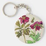 Wild Roses Keychain