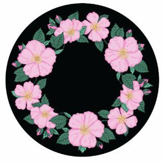 Wild Roses Pin Photo Sculpture Button