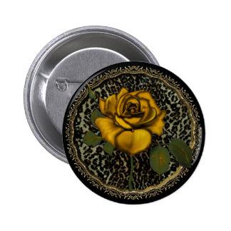 Wild Roses Pinback Button