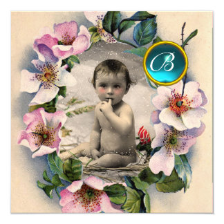 WILD ROSES ,STORK BOY BABY SHOWER PHOTO TEMPLATE