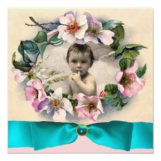 WILD ROSES WITH BLUE RIBBON PHOTO TEMPLATE