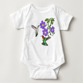 Wild Ruby Throated Hummingbirds Infant Creeper