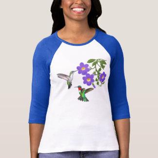 Wild Ruby Throated Hummingbirds Ladies Jersey T-Shirt