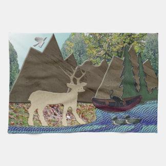 Wild Rural Animals Kitchen Towel