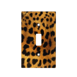 Wild Safari Animal Cheetah Y Leopard Print Light Switch Cover