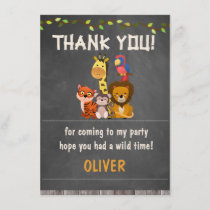 Wild Safari Animals BirthdayThank You Card