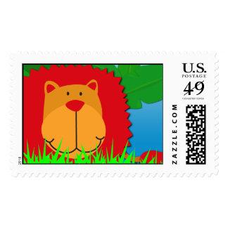 Wild Safari **Lion, Custom Postage