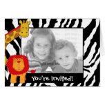 Wild Safari Photo Template Birthday Invitation Card