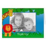 Wild Safari Photo Template Thank You Card