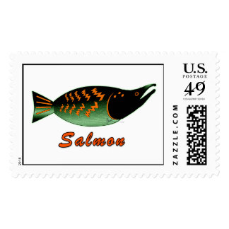 Wild Salmon in Style Stamp