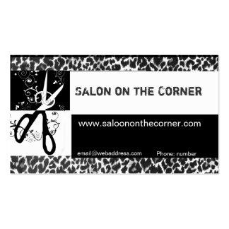 Wild Scissors Leopard Print Salon Business Card Templates