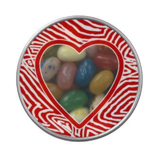 Wild Scribbblprint Heart Candy Tins
