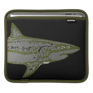Wild shark iPad sleeve