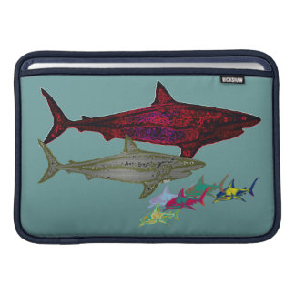 Wild sharks protection MacBook sleeve
