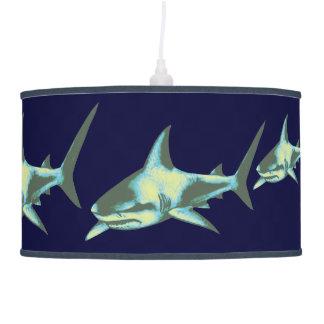 wild sharks sea animals pendant lamp
