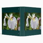 Wild SIberian Iris Vinyl Binder