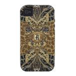 Wild Side Elegant Monogram Case-Mate iPhone 4 Cases