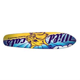 Wild Skate Cat Old School Skateboard Deck