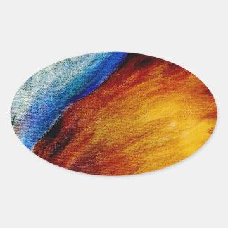 Wild Sky Oval Sticker