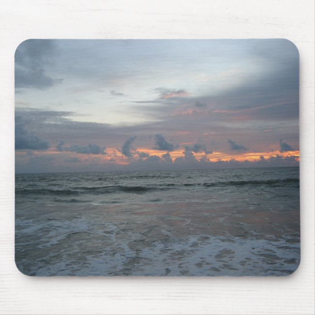 Wild Sky Sunrise Beach Mouse Pad