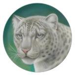 Wild Snow Leopard Plate