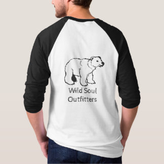 Wild Soul Outfitters Men's Bear 3/4 Baseball Tee