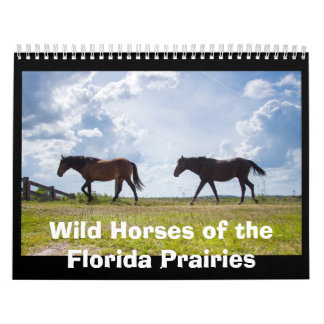 Wild Spanish Horses of Paynes Prairie Florida Calendar