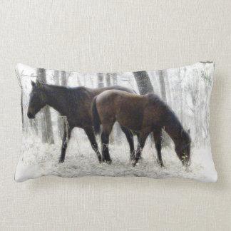 Wild Spanish Horses  Photography Lumbar  Pillow