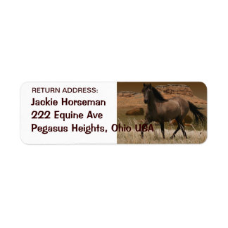 Wild SPANISH MUSTANG HORSE Return Address Labels