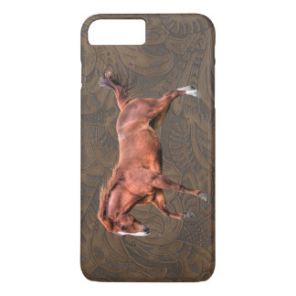 Wild Spirited Horse Tooled Leather-look Case