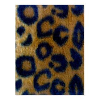 Wild Spotted Leopard Print Postcard