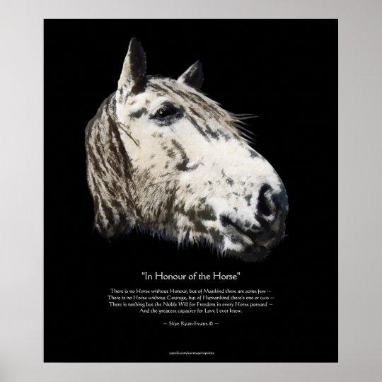 WILD STALLION & Poem, Horse Lover Fine-Art Poster