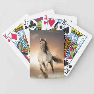 Wild Stallion Running In Sunset Bicycle Playing Cards