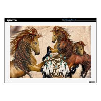 Wild Stallions and Mandala Laptop Skin