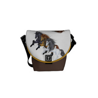 Wild Stallions Horse Zero Messenger Bag
