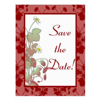 Wild Strawberries  Save the Date Postcard