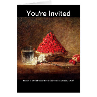 Wild Strawberries - Vintage Art -by Chardin Card