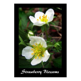 Wild Strawberry Blossoms ATC Business Cards
