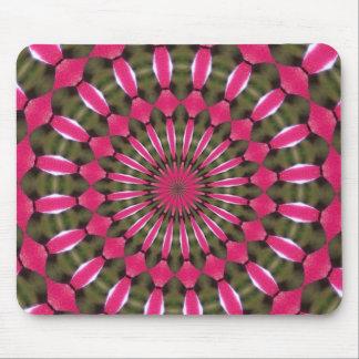 Wild strawberry burst pattern mouse pad