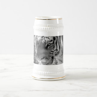 Wild Striped Tiger Black and White Beer Stein