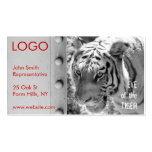 Wild Striped Tiger Black and White Business Card