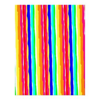 wild stripes flashy colors custom letterhead