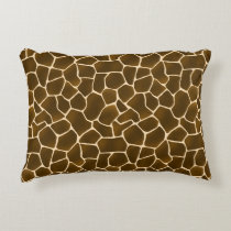 Wild Style Safari Giraffe Spots Animal Print Decorative Pillow