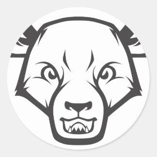 Wild Sun Bear Classic Round Sticker