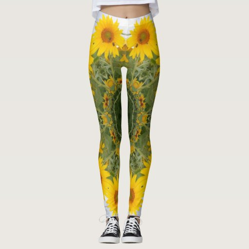 Wild sunflower leggings