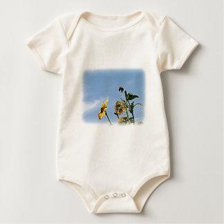 Wild Sunflowers Baby Bodysuit
