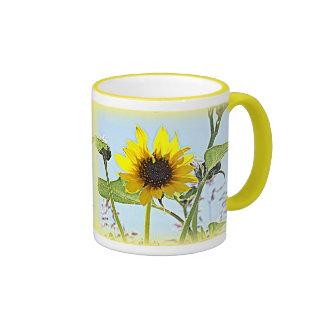 Wild Sunflowers Ringer Mug