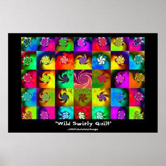 """""""Wild Swirly Quilt""""  poster"""